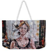 The Lady With The Fan Weekender Tote Bag