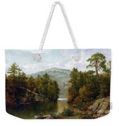 The Lake George Weekender Tote Bag by David Johnson