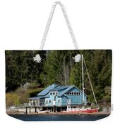 The Lake House - Digital Oil Weekender Tote Bag