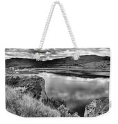 The Lake In Black And White Weekender Tote Bag