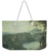 The Lake Of Nemi And The Town Of Genzano Weekender Tote Bag