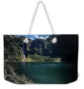 The Lake On A Mountain Weekender Tote Bag