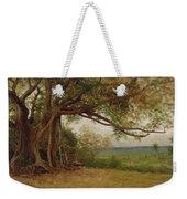 The Landing Of Columbus Weekender Tote Bag by Albert Bierstadt