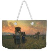 The Last Gleanings Weekender Tote Bag by Jules Breton