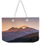 The Last Light Of The Day Over Snowdon. Weekender Tote Bag