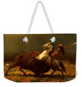 The Last Of The Buffalo Weekender Tote Bag by Albert Bierstadt