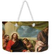The Last Supper Weekender Tote Bag by Benjamin West