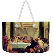 The Last Supper Weekender Tote Bag by Giovanni Battista Tiepolo