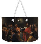 The Last Supper Weekender Tote Bag by Nicolas Poussin