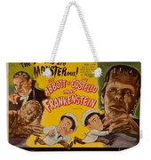 The Laughs Are Monsterous Abott An Costello Meet Frankenstein Classic Movie Poster Weekender Tote Bag