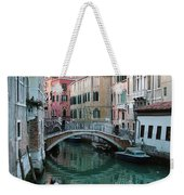The Leaning Boat Weekender Tote Bag