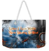 The Letters Weekender Tote Bag