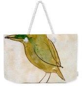 The Light Green Bird Weekender Tote Bag