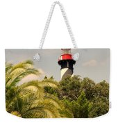 The Lighthouse In Saint Augusrtine Fl Weekender Tote Bag