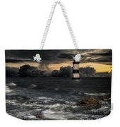The Lighthouse Storm Weekender Tote Bag