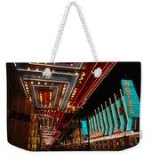 The Lights Are On In Las Vegas Weekender Tote Bag