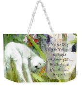 The Lily Of The Valley - Lyrics Weekender Tote Bag