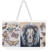 The Lion And The Butterflies Weekender Tote Bag