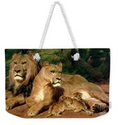 The Lions At Home Weekender Tote Bag
