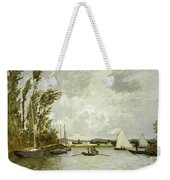 The Little Branch Of The Seine At Argenteuil Weekender Tote Bag by Claude Monet