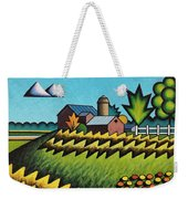 The Little Farm On The Grassy Hill Weekender Tote Bag