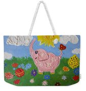 Little Pink Elephant Weekender Tote Bag