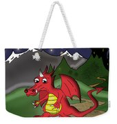 The Little Red Dragon Weekender Tote Bag