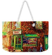 The Little Red Wagon Weekender Tote Bag