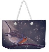 The Little Robin At The Night Weekender Tote Bag