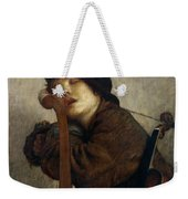 The Little Violinist Sleeping Weekender Tote Bag