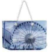 The Liverpool Wheel In Blues Weekender Tote Bag