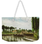 The Lock At Pontoise Weekender Tote Bag