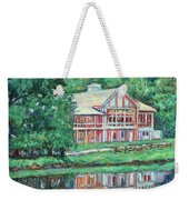 The Lodge At Peaks Of Otter Weekender Tote Bag by Kendall Kessler