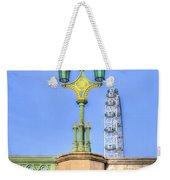 The London Eye And Westminster Bridge Weekender Tote Bag