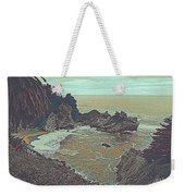 The Lone Waterfal By The Hidden Cove Weekender Tote Bag