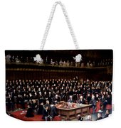 The Lord Chancellor About To Put The Question In The Debate About Home Rule In The House Of Lords Weekender Tote Bag by English School
