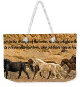 The Lord's Delight Weekender Tote Bag