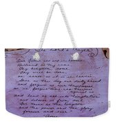 The Lord's Prayer Collage Weekender Tote Bag