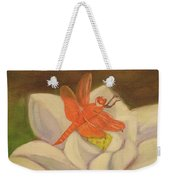 The Lotus And The Dragonfly Weekender Tote Bag