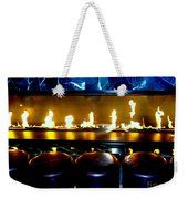 The Lounge Fireplace Weekender Tote Bag