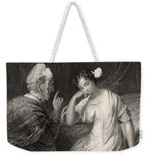The Love Letter Engraved By Charles Weekender Tote Bag