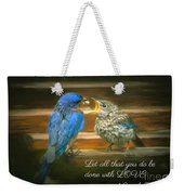 The Love Of A Father Weekender Tote Bag
