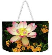 The Lovely Lotus Weekender Tote Bag