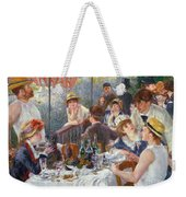 The Luncheon Of The Boating Party Weekender Tote Bag by Pierre Auguste Renoir