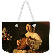 The Lute Player Weekender Tote Bag by Michelangelo Merisi da Caravaggio