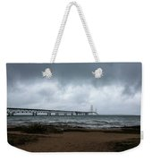 The Mackinac Bridge Weekender Tote Bag