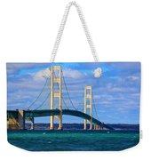 The Mackinac Bridge Weekender Tote Bag