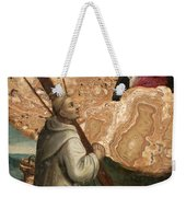 The Madonna And Child Appearing To Saint Bruno With The Instruments Of The Passion Weekender Tote Bag