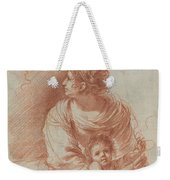 The Madonna And Child With An Escaped Goldfinch Weekender Tote Bag