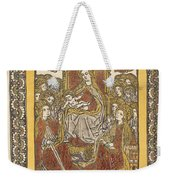 The Madonna Enthroned With Eighteen Holy Women Weekender Tote Bag